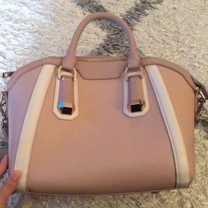 Top Shop Blush Nude Satchel Crossbody w Rose Gold